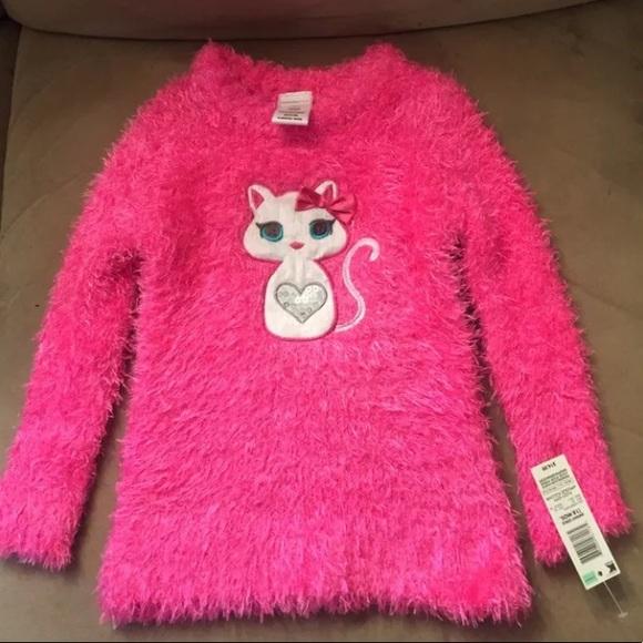 e663e8366 wonderkids Shirts & Tops | Wonder Kids Pink Cat Long Sleeve Sweater ...